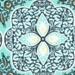 Pressed Flowers –Turquoise