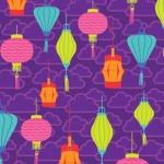 Chinese Lanterns –Purple