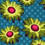 Daisy Dot – Turquoise