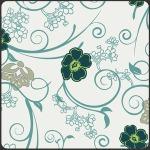 Flowery Trellis –White