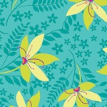Pretty Flowers – Turquoise