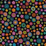 Tossed Flowers –Black